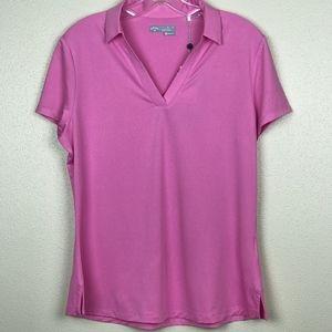 NWT Callaway Golf Shirt Pink L Opti-dri fabric